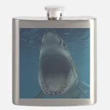 Big White Shark Jaws Flask