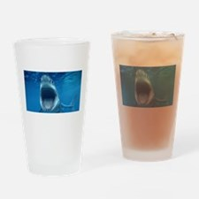 Big White Shark Jaws Drinking Glass