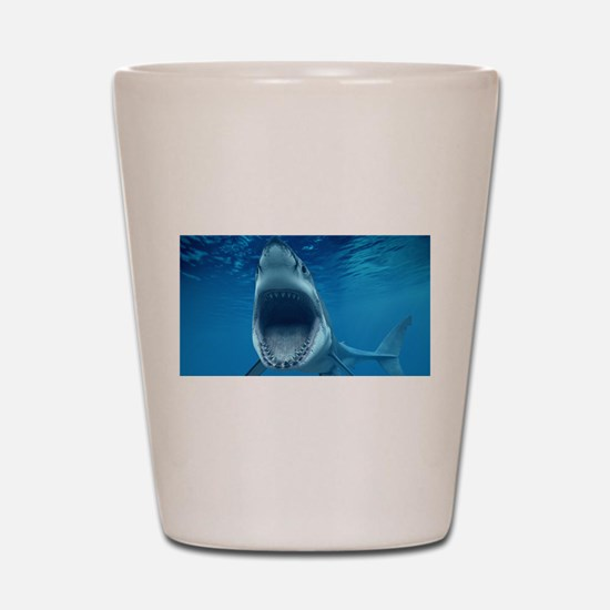 Big White Shark Jaws Shot Glass