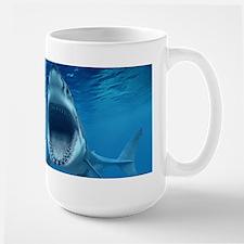 Big White Shark Jaws Mugs