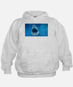 Big White Shark Jaws Hoodie