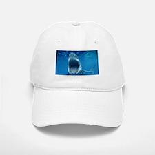 Big White Shark Jaws Baseball Baseball Baseball Cap