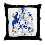 Tippet Family Crest Throw Pillow
