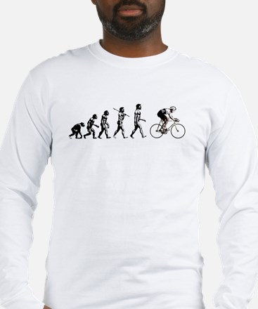 Bicycling Cyclists Evolution Long Sleeve T-Shirt
