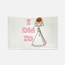 Redhead I Did It Rectangle Magnet