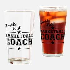 Worlds Best Basketball Coach Drinking Glass