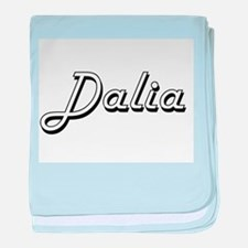 Dalia Classic Retro Name Design baby blanket