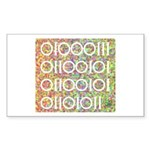 Geek in Binary Code Rectangle Sticker