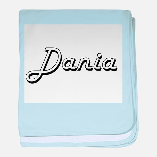 Dania Classic Retro Name Design baby blanket