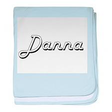 Danna Classic Retro Name Design baby blanket