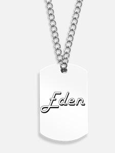 Eden Classic Retro Name Design Dog Tags