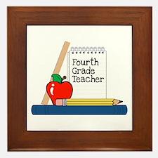 Fourth Grade Teacher (Notebook) Framed Tile