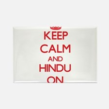 Keep Calm and Hindu ON Magnets