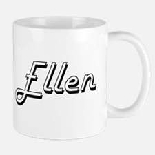 Ellen Classic Retro Name Design Mugs