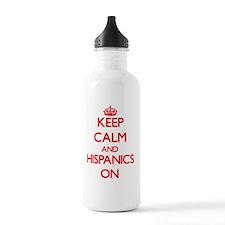 Keep Calm and Hispanic Sports Water Bottle