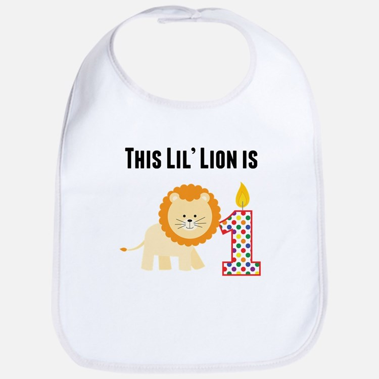 This Lil Lion Is One Bib