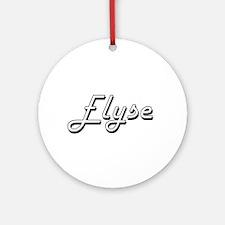 Elyse Classic Retro Name Design Ornament (Round)
