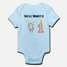This Lil Monkey Is One Body Suit