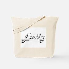 Emily Classic Retro Name Design Tote Bag
