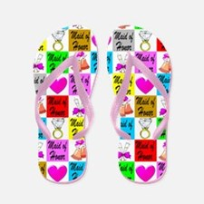 Chic Maid Of Honor Flip Flops