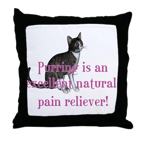 Purring... Throw Pillow