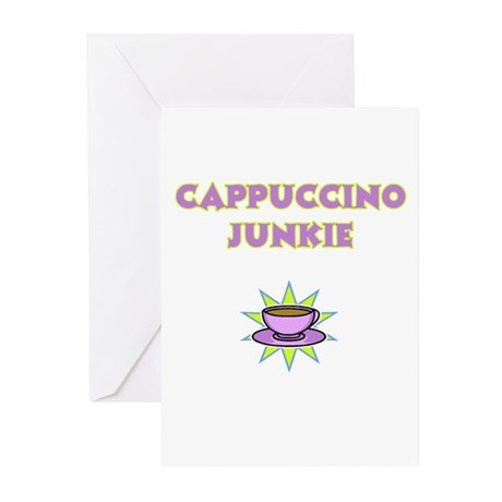 Cappuccino Junkie Greeting Cards (Pk of 20)