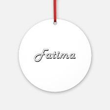 Fatima Classic Retro Name Design Ornament (Round)