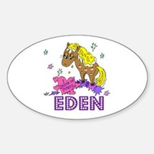 I Dream Of Ponies Eden Oval Decal