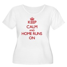 Keep Calm and Home Runs ON Plus Size T-Shirt