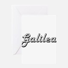 Galilea Classic Retro Name Design Greeting Cards
