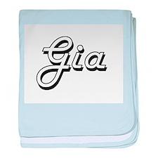 Gia Classic Retro Name Design baby blanket