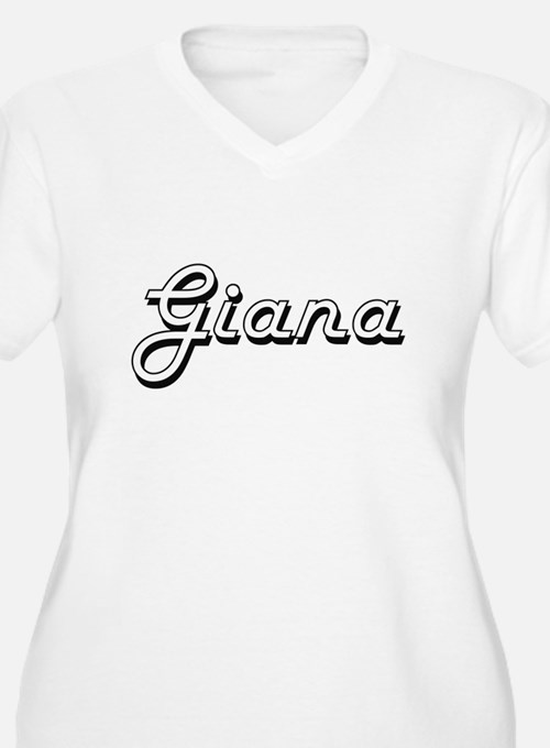 Giana Classic Retro Name Design Plus Size T-Shirt