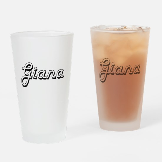 Giana Classic Retro Name Design Drinking Glass