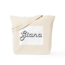 Giana Classic Retro Name Design Tote Bag