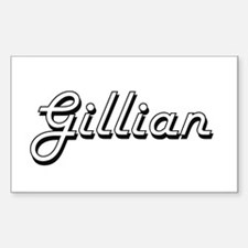 Gillian Classic Retro Name Design Decal