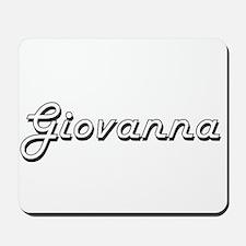 Giovanna Classic Retro Name Design Mousepad