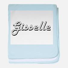 Gisselle Classic Retro Name Design baby blanket