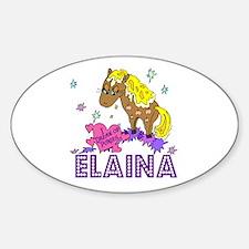 I Dream Of Ponies Elaina Oval Decal