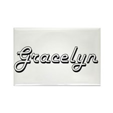 Gracelyn Classic Retro Name Design Magnets