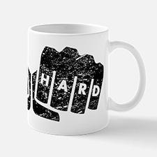 Live Hard Knuckle Tattoo (Distressed) Mugs