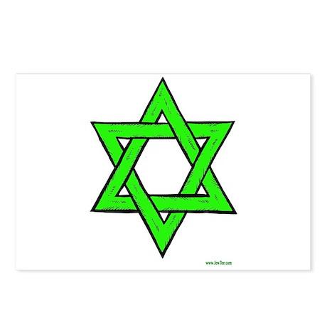 Rosh Hashanah Star Of David Postcards (Package of