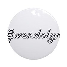 Gwendolyn Classic Retro Name Desi Ornament (Round)