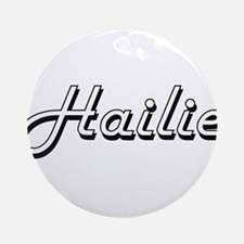 Hailie Classic Retro Name Design Ornament (Round)