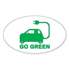 Go Green ~ Drive Electric Cars Decal