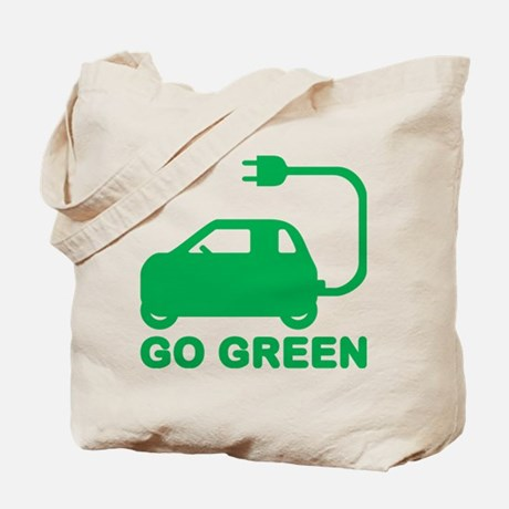 Go Green ~ Drive Electric Cars Tote Bag