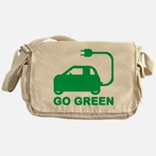 Go Green ~ Drive Electric Cars Messenger Bag