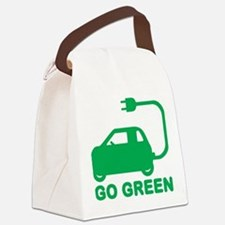 Go Green ~ Drive Electric Cars Canvas Lunch Bag