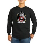Tidwell Family Crest Long Sleeve Dark T-Shirt