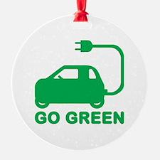 Go Green ~ Drive Electric Cars Ornament