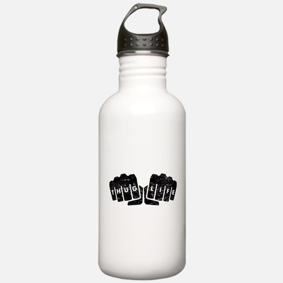 Thug Life Knuckle Tattoo (Distressed) Water Bottle